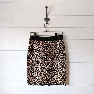 White House Black Market Leopard Pencil Skirt 6